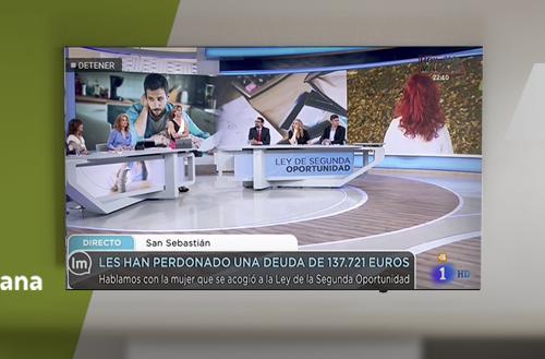 Entrevista en Televisión Española sobre la Ley de la Segunda Oportunidad y Repara tu deuda
