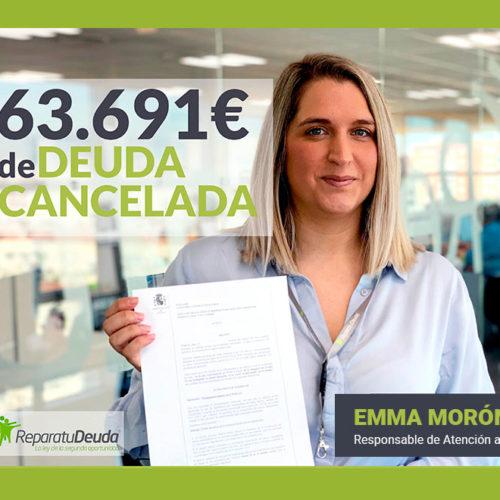 La Ley de la Segunda Oportunidad cancela 63.691€ a un matrimonio de Jaén