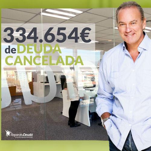 Repara tu Deuda libera a un vecino de Castelldefels de una deuda de 334.654€