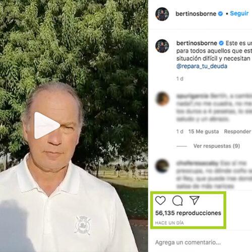 Bertin osborne recomienda a Repara tu Deuda Abogados, mira su Instagram