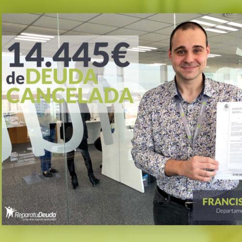 Repara tu Deuda Abogados cancela 14.445€ con 17 bancos y financieras con la Ley de Segunda Oportunidad
