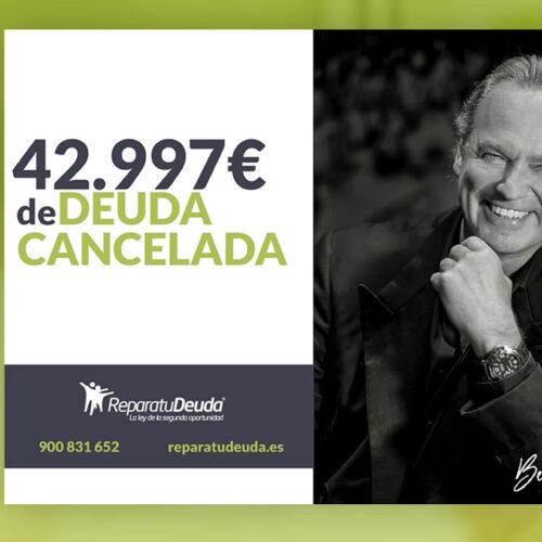 Repara tu Deuda abogados cancela una deuda de 42.997 € en Madrid con la Ley de Segunda Oportunidad
