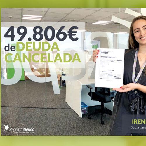 Repara tu Deuda Abogados cancela 49.806 € en Valencia con la Ley de Segunda oportunidad