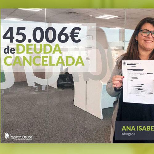 Repara tu Deuda Abogados cancela 45.006 € en Bilbao (País Vasco) con la Ley de Segunda Oportunidad