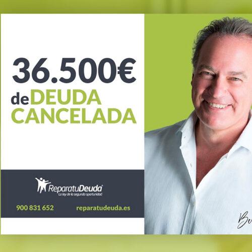 Repara tu Deuda Abogados cancela 36.500 € de deuda en Valencia con la Ley de Segunda Oportunidad