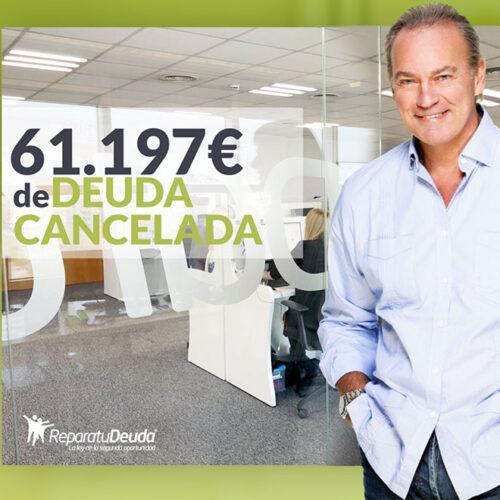 Repara tu Deuda Abogados cancela 61.197 € en Barcelona con la Ley de la Segunda Oportunidad