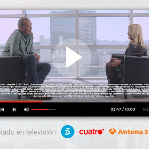 Nuevo anuncio de televisión de Repara tu Deuda Abogados con Bertín Osborne