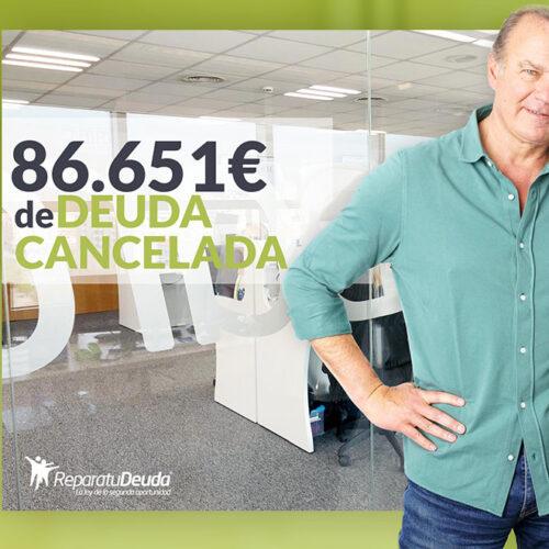 Repara tu Deuda abogados cancela 86.651 € en Guadalajara (Castilla-La Mancha) con la Ley de Segunda Oportunidad