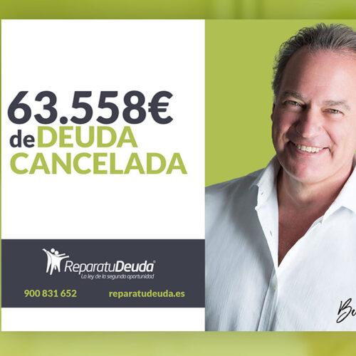 Repara tu Deuda Abogados cancela 63.558 € en Donostia (Gipuzkoa) con la Ley de la Segunda Oportunidad