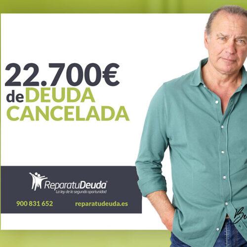 Repara tu Deuda Abogados cancela 22.700€ en Valladolid (Castilla y León) gracias a la Ley de Segunda Oportunidad