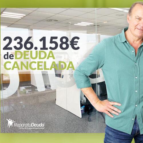 Repara tu Deuda Abogados cancela 236.158 € en Bilbao (Vizcaya) con la Ley de Segunda Oportunidad
