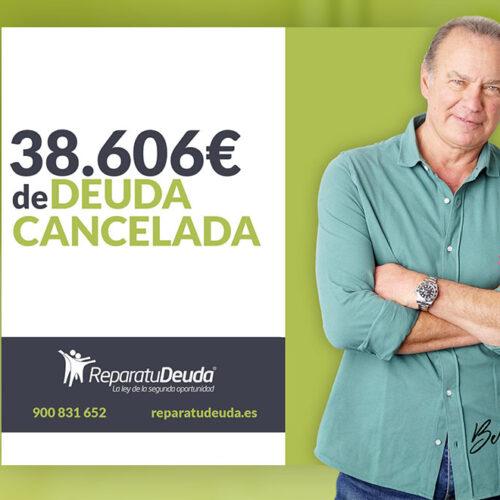 Repara tu Deuda cancela 38.606 € con deuda pública en Palencia  (Castilla y León) con la Ley de la Segunda Oportunidad