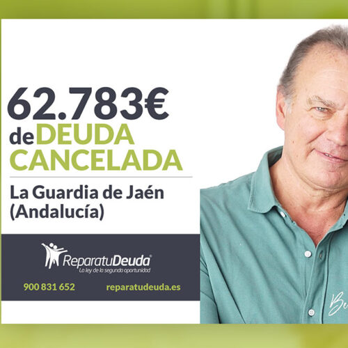 Repara tu Deuda Abogados cancela 62.783 € en La Guardia de Jaén (Andalucía) con la Ley de Segunda Oportunidad