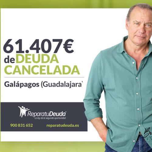 Repara tu Deuda Abogados cancela 61.407€ en Galápagos (Guadalajara) gracias a la Ley de Segunda Oportunidad