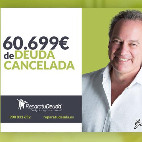 Repara tu Deuda Abogados cancela 60.699 € en Barcelona con la Ley de Segunda Oportunidad