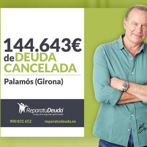 Repara tu Deuda cancela 144.643 € con deuda pública en Palamós (Girona) con la Ley de la Segunda Oportunidad