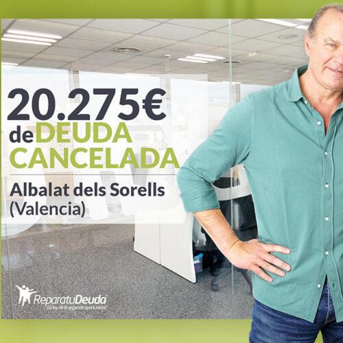 Repara tu Deuda cancela 20.275€ con deuda pública en Albalat dels Sorells (Valencia) con la Ley de la Segunda Oportunidad