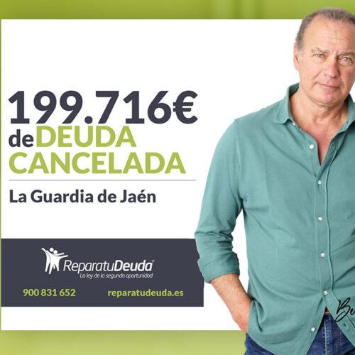 Repara tu Deuda Abogados cancela 199.716 € en La Guardia de Jaén (Andalucía) con la Ley de la Segunda Oportunidad