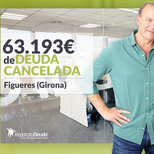 Repara tu Deuda cancela 63.193 € en Figueres (Girona) con la Ley de la Segunda Oportunidad