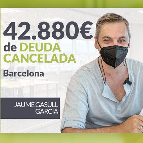 Repara tu Deuda Abogados cancela 42.880 € en Barcelona (Catalunya) con la Ley de Segunda Oportunidad