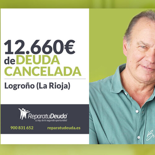 Repara tu Deuda cancela 12.660 € con deuda pública en Logroño (La Rioja) con la Ley de la Segunda Oportunidad