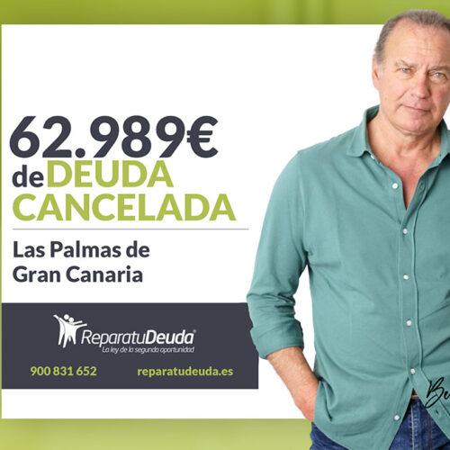 Repara tu Deuda Abogados cancela 62.989 € en Las Palmas de Gran Canaria gracias a la Ley de Segunda Oportunidad