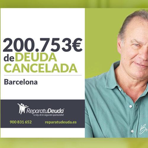 Repara tu Deuda abogados cancela 200.753 € en Barcelona (Cataluña) con la Ley de Segunda Oportunidad