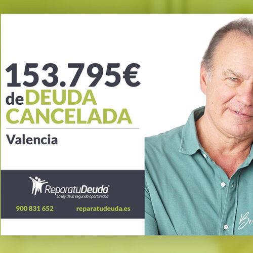 Repara tu Deuda Abogados cancela 153.795 € en Valencia con la Ley de Segunda Oportunidad