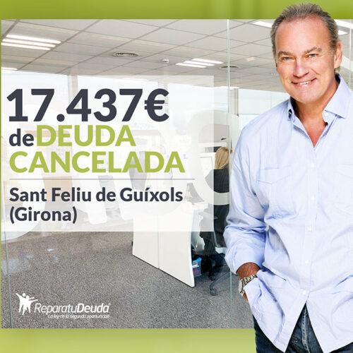 Repara tu Deuda Abogados cancela 17.437 € en Sant Feliu de Guíxols (Girona) con la Ley de la Segunda Oportunidad