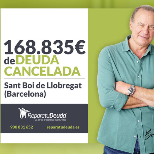Repara tu Deuda Abogados cancela 168.835 € en Sant Boi de Llobregat (Barcelona) con la Ley de Segunda Oportunidad