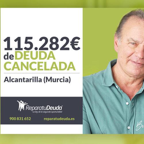 Repara tu Deuda Abogados cancela 115.282 € en Alcantarilla (Murcia) con la Ley de la Segunda Oportunidad