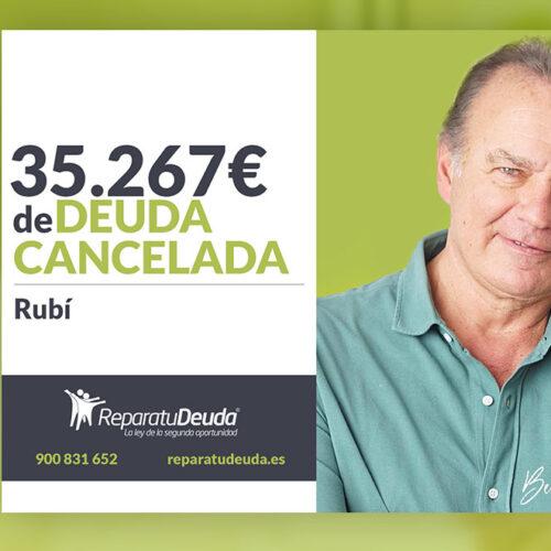 Repara tu Deuda Abogados cancela 35.267 € en Rubí (Barcelona) con la Ley de Segunda Oportunidad
