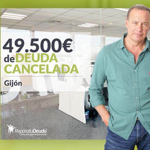 Repara tu Deuda Abogados cancela 49.500 € en Gijón (Asturias) con la Ley de Segunda Oportunidad