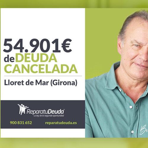 Repara tu Deuda Abogados cancela 54.901 € en Lloret de Mar (Girona) con la Ley de la Segunda Oportunidad
